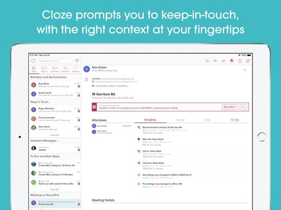 Cloze - Relationship Management, Inbox & Contacts screenshot