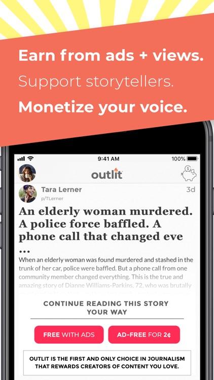 Outlit - Read, Publish, Earn screenshot-4
