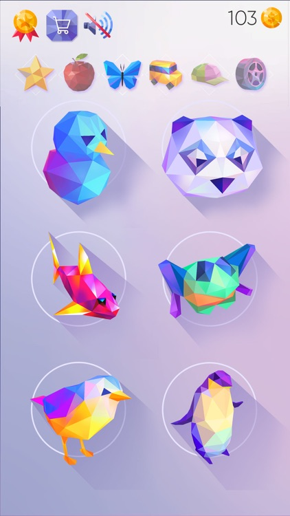 LowPoly 3D Art: Paint by Numbe