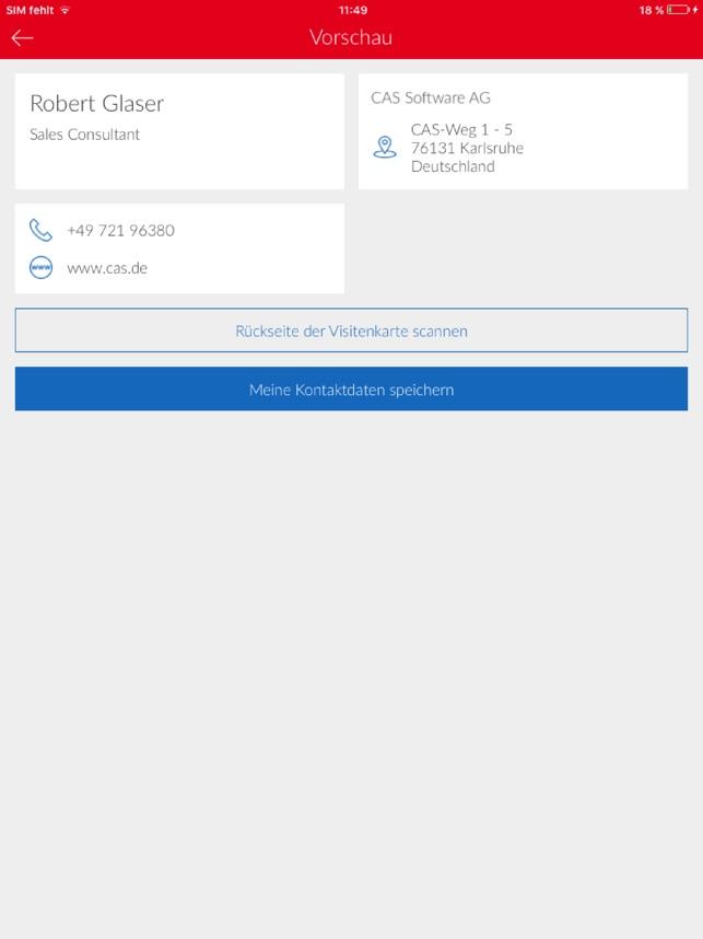 Cas Cardscanner Im App Store