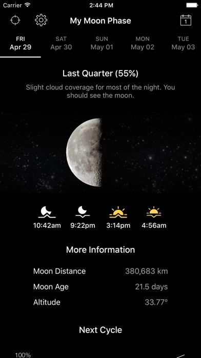 My Moon Phase - Lunar Calendar Screenshot