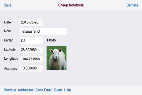 Sheep Notebook for iPhone - náhled