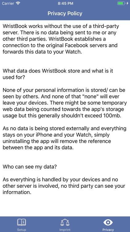WristBook for Facebook screenshot-3