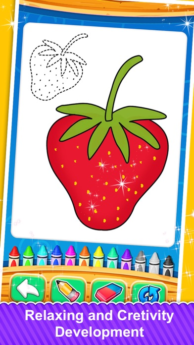 Fruits and Vegetable Coloring screenshot 1