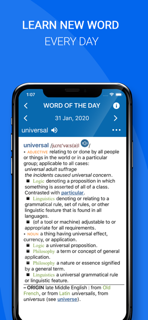‎Oxford Dictionary of English Screenshot