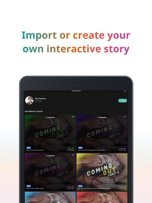 Tap by Wattpad on the App Store