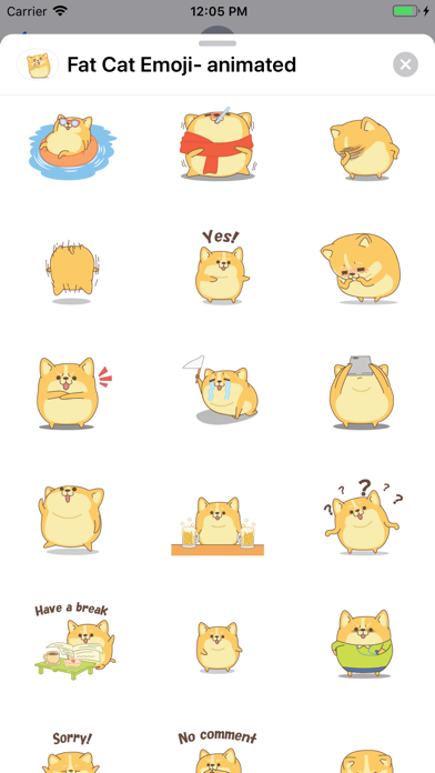 Fat Cat Emoji- animated screenshot 2
