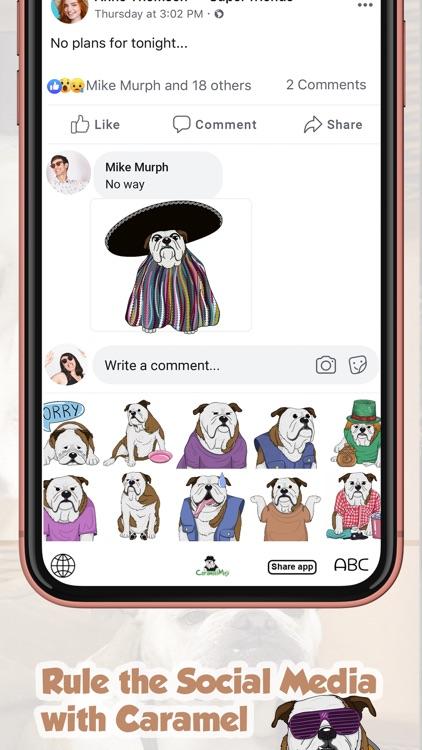 CaramelMoji - Bulldog Stickers screenshot-7