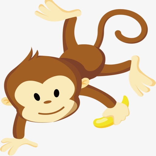 Cute Baby Monkey Stickers