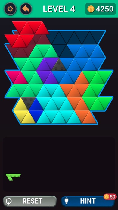Hexa Square Triangle Puzzle