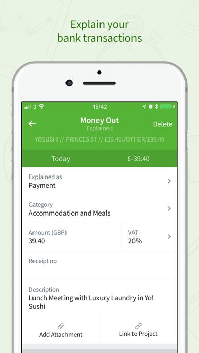 FreeAgent Mobile Accounting Screenshot on iOS