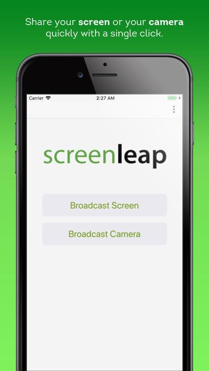 Screen and Camera Sharing