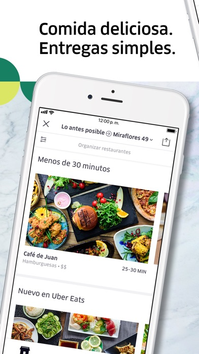 Screenshot for Uber Eats: Entregas de comida in Colombia App Store