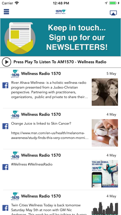 Wellness Radio 1570 screenshot one