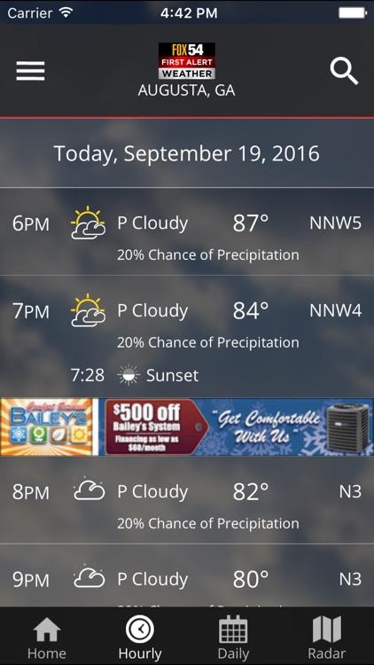 WFXG First Alert Weather screenshot-4