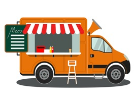 The FoodTruckMNN is a small sticker, which are show the 36 Food Truck MNN sticker in cartoon
