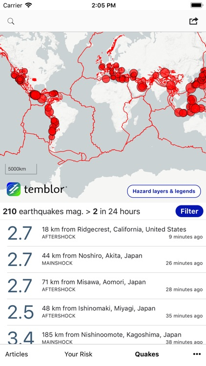Temblor screenshot-2