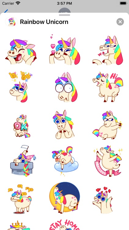 Unicorn Rainbow Animated