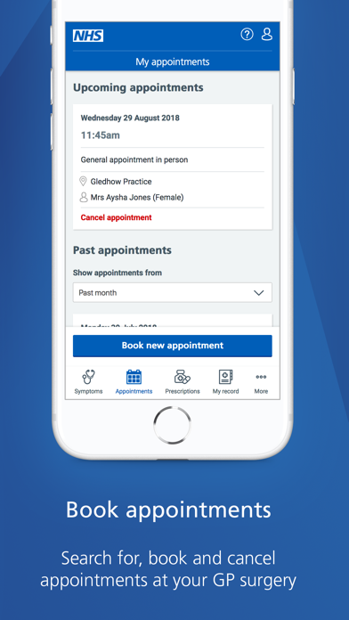 NHS App screenshot three