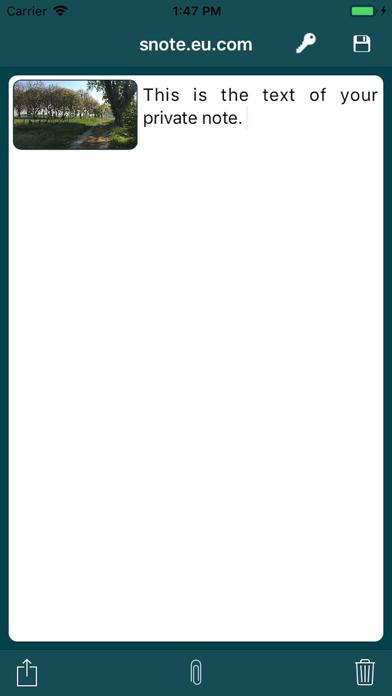 s-Note screenshot one