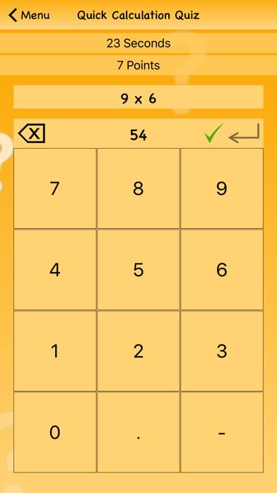 Quick Calculation Quiz screenshot three