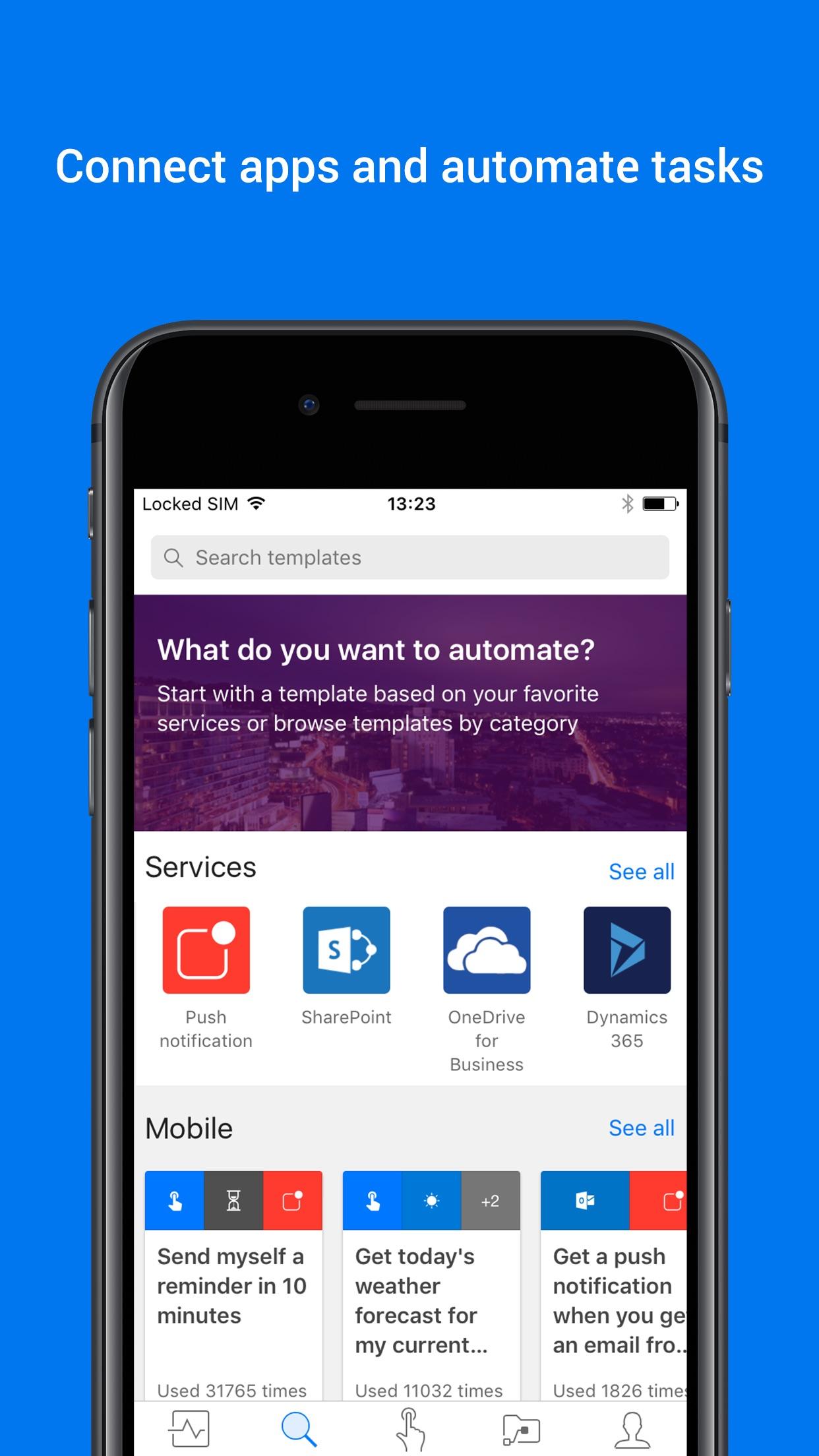 Screenshot do app Power Automate