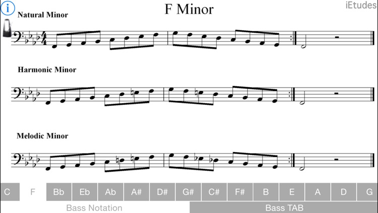 Minor Scales Bass Guitar screenshot-3
