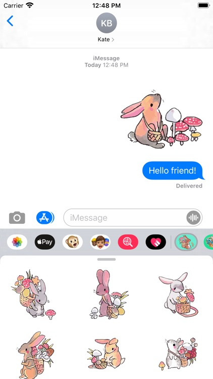 Mushroom Bunny Stickers