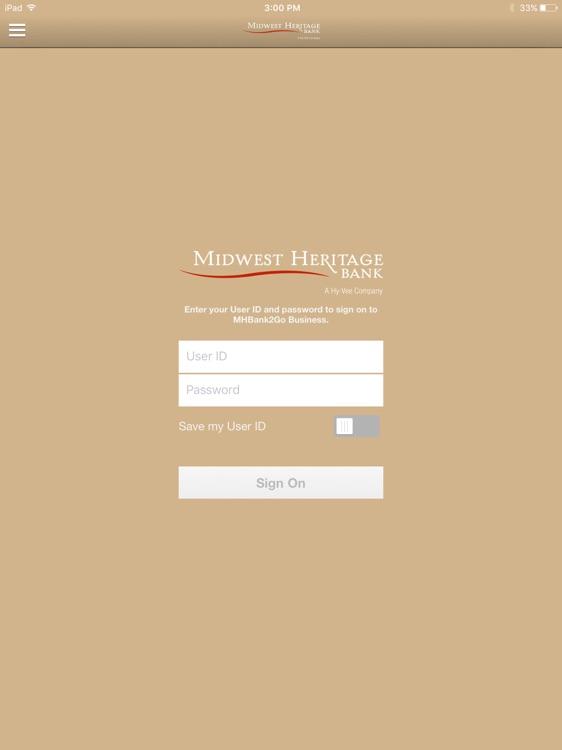 MHBank2Go Business for iPad