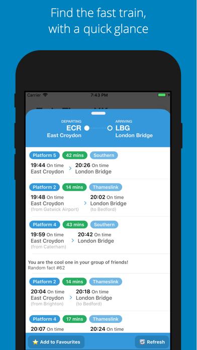 Train Times UK Journey Planner Screenshot