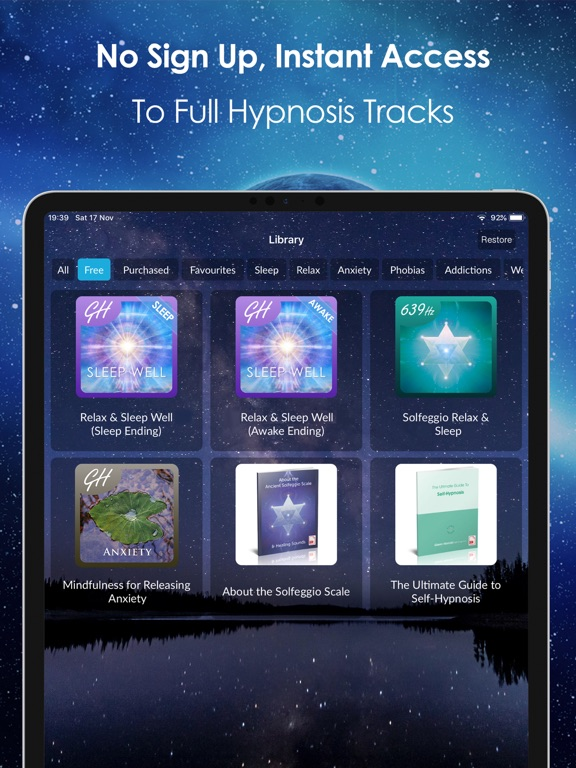 Relax & Sleep Well by Glenn Harrold: A Relaxation Self-Hypnosis Meditation screenshot