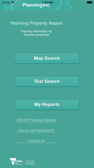 PlanningVIC screenshot one