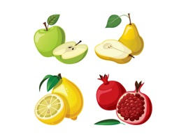 The FruitCartoonSt is a cartoon sticker with fruits