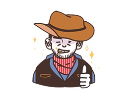American Cowboy Stickers
