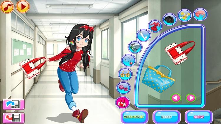 Dress Up Games, Late for Class screenshot-7