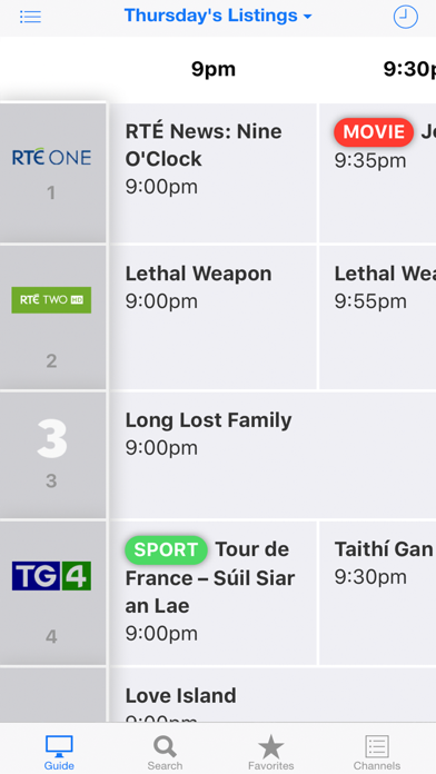 TV Guide Ireland screenshot one
