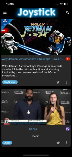 Joystick - Video Gaming news Screenshot
