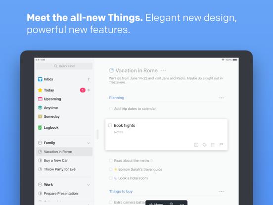 Things 3 for iPad Screenshots