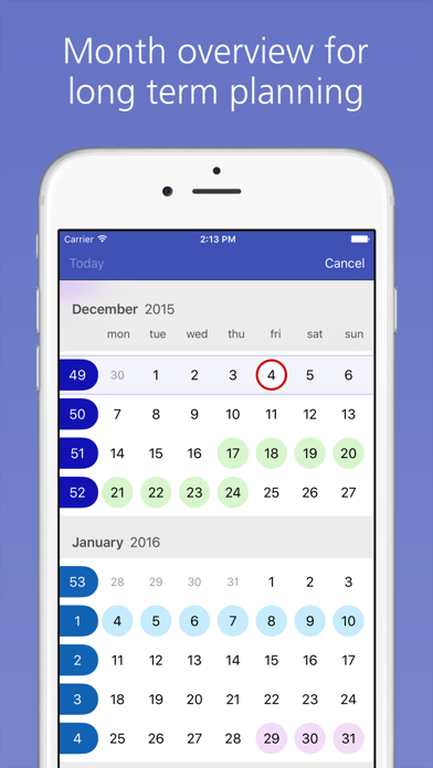 Easy Calendar review screenshots