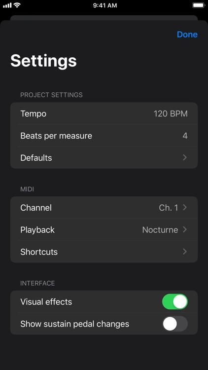 Nocturne MIDI Recorder screenshot-3