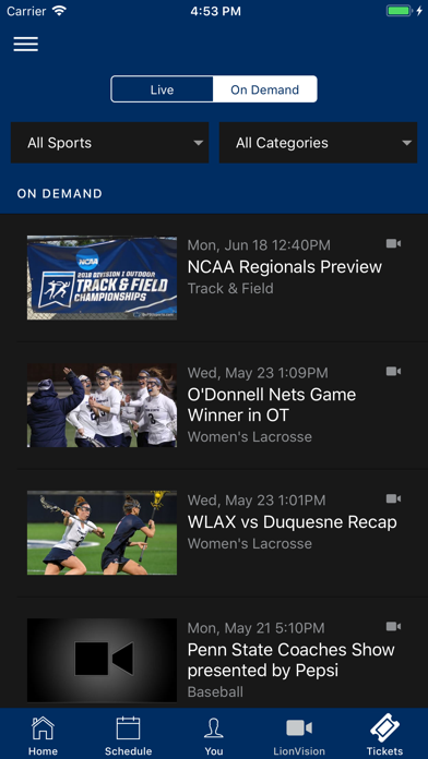 Penn State Athletics review screenshots