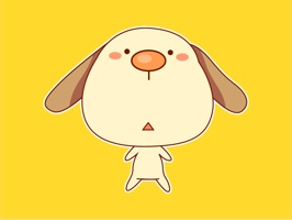 Fancy Puppy Animated Stickers