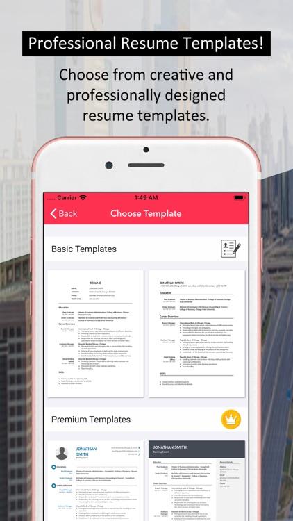 Resume Builder - Job Templates
