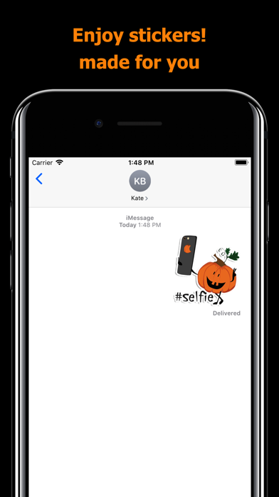 Halloween stickers - pumpkin screenshot 5