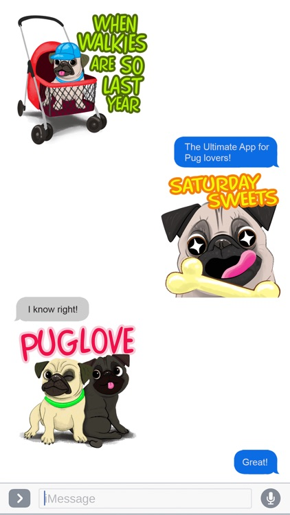 Pug Dog Emoji Stickers screenshot-3
