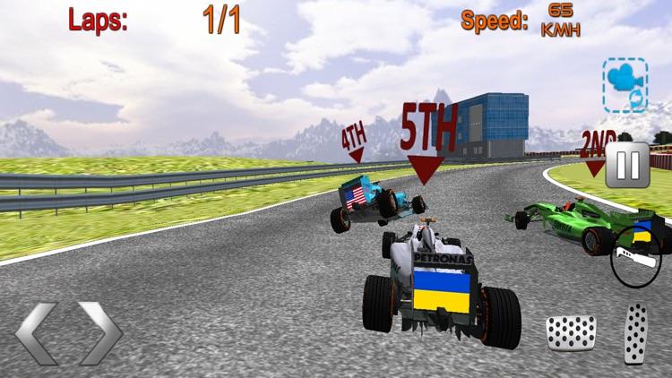 Formula racing car game