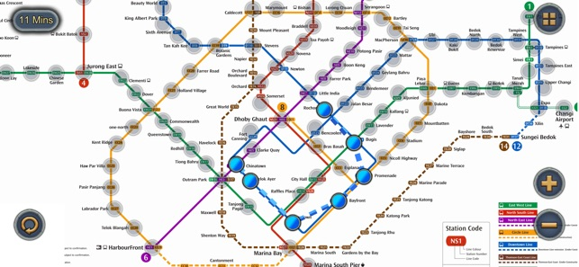 Singapore MRT Map Route on the App Store