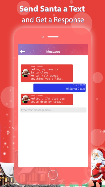 Call Santa and Chat Text screenshot-5