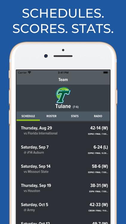Tulane Football Schedules