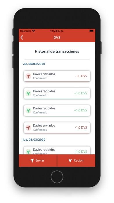 Screenshot of Davies App